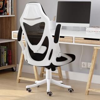 防疫必備 居家辦公椅【Ashley House-限量送腰枕】升級版-凱恩一體成型4段式升降腰托人體工學電腦椅