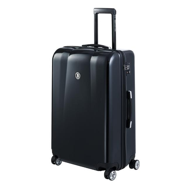 【Bentley 賓利】PC+ABS 蜂巢紋拉鍊款輕量行李箱(28吋)