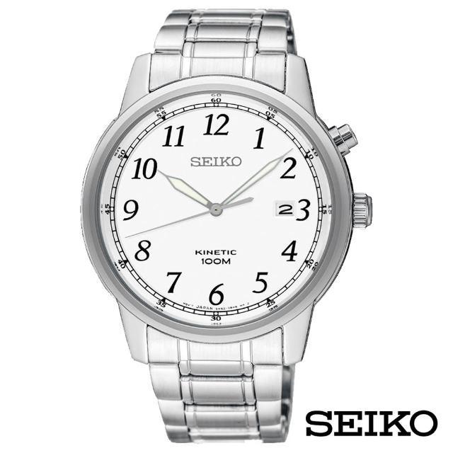 【SEIKO 精工】人動電能Kinetic率性簡約石英男錶-黑x40mm(SKA775P1)