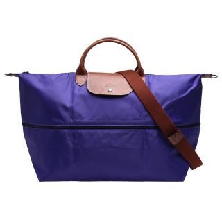 【LONGCHAMP】經典LE PLIAGE系列延展夾層旅行袋(紫水晶1911089-958)