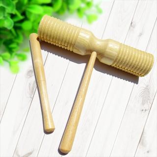 【美佳音樂】奧福打擊樂器/兒童樂器 刮胡木魚/雙頭木魚(雙頭響筒)