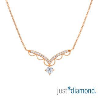 【Just Diamond】Lacy Crown18K玫瑰金系列 鑽石項鍊