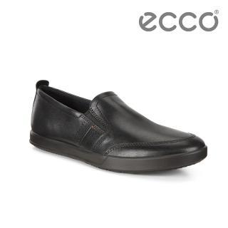 【ecco】COLLIN 2.0 單色套入式休閒鞋 男(黑 53626401001)
