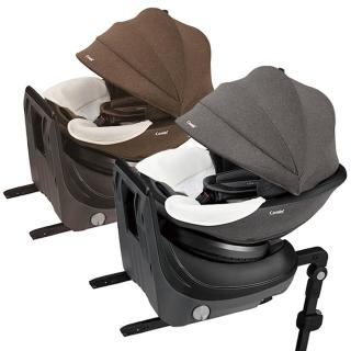【Combi】Culmove Smart 0-4歲 ISOFIX 雙向安全汽車座椅(紳色灰/爵色棕)