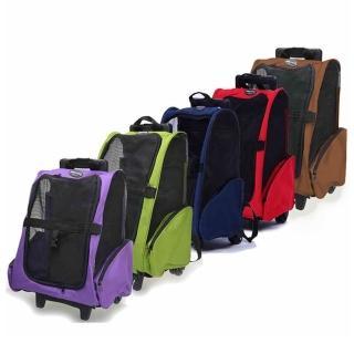 【寵物夢工廠】多功能寵物拉桿包 寵物外出包 寵物推車 適合5KG以下寵物(拉桿推車 貓狗拉桿箱 寵物肩背包)