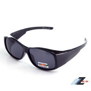 【Z-POLS】帥氣加大款可包覆設計 Polarized寶麗來偏光抗UV400太陽眼鏡(可包覆近視眼鏡於內超實用!)