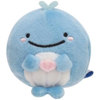 【San-X】鯨鯊先生微笑的臉系列掌心沙包公仔。(小藍鯨)