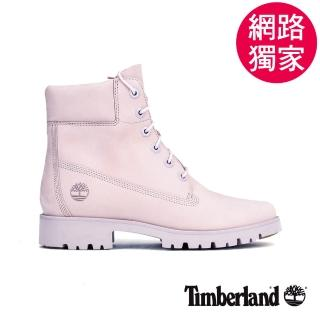 【Timberland】女款淺紫色磨砂革經典6吋靴(A1X4TS40)
