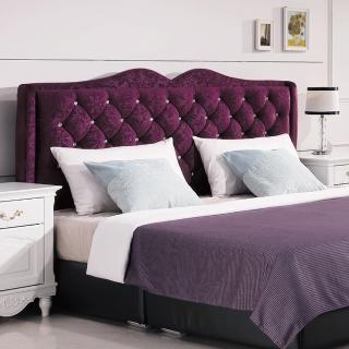 【AS】德薇爾5尺紫色絨布床頭片-153*12*119cm