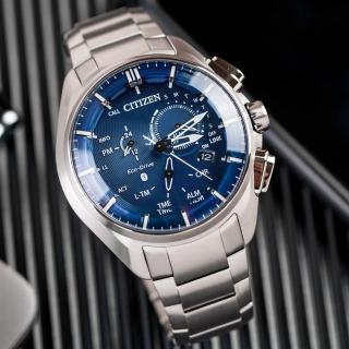 【CITIZEN 星辰】Eco-Drive 飆風魅力鈦金屬光動能藍牙腕錶(BZ1040-50L)