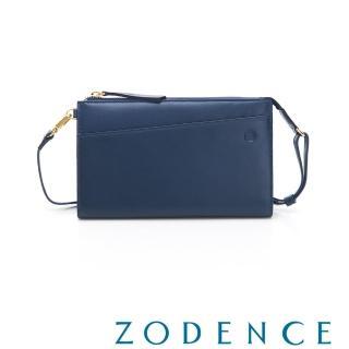 【ZODENCE 佐登司】COMBO系列進口牛皮皮夾包(藍色)