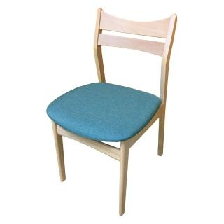 【AS】Hedy綠布實木餐椅-48x48x76cm