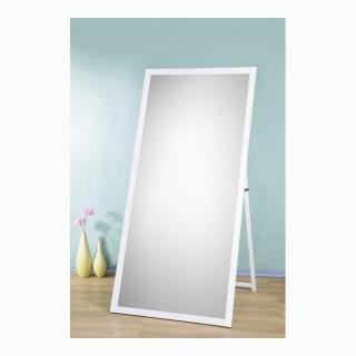 【鏡王之王】寬84公分超大型原木立鏡 掛鏡 穿衣鏡 全身鏡-白色(訂製品-促銷中)