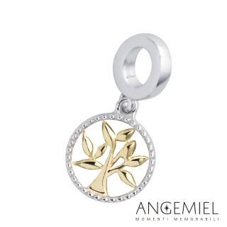 【Angemiel 安婕米】925純銀珠飾 吊飾 生命樹(金色款)