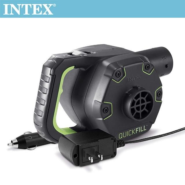 【INTEX】3合1可蓄電充氣幫浦110V+12V+蓄電池(66641)