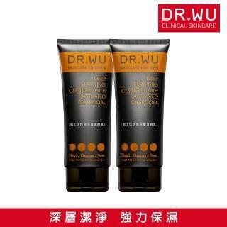 【DR.WU 達爾膚】(雙入組) 男士活性碳深層潔顏乳150ML