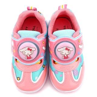 【童鞋城堡】Kitty X 布丁狗聯名款 中童 輕量跑底電燈運動鞋(KT7181-藍)
