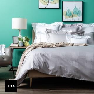 【HOLA】義式孟斐斯埃及棉素色床包 加大 灰色