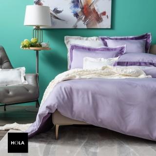 【HOLA】雅緻天絲素色歐式枕套 2入 絳紫