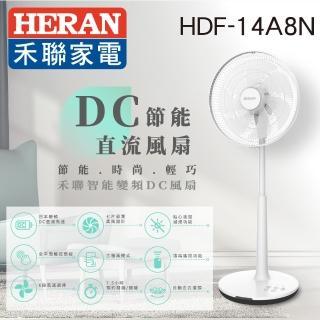 【HERAN 禾聯】日本馬達14吋智慧觸控變頻7葉片DC扇(HDF-14A8N)