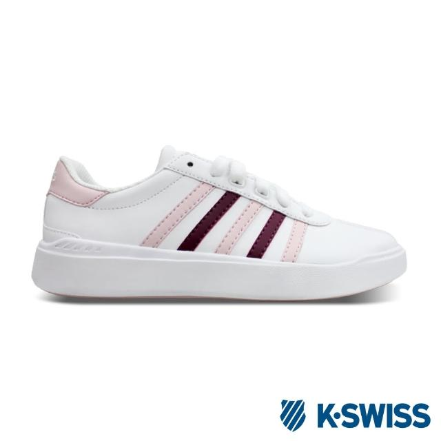 【K-SWISS】Heritage Light Stripes L SE休閒運動鞋-女-白/粉紅