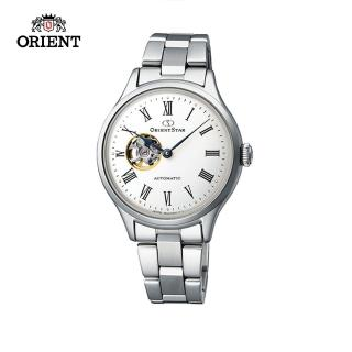 【ORIENT 東方錶】ORIENT STAR 東方之星 CLASSIC系列 縷空機械錶 女生鋼帶款 銀色 30.5mm(RE-ND0002S)