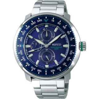 【WIRED】SOLIDITY風格運動錶-藍44mm(VH67-KHC0B/AY8035X1)