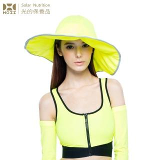 【HOII后益.】HOII后益 荷葉邊花瓣帽-大 ★黃光(UPF50+抗UV防曬涼感先進光學機能布)
