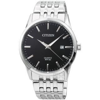 【CITIZEN 星辰】星辰簡約風格石英鋼帶錶-黑面(BI5000-87E)