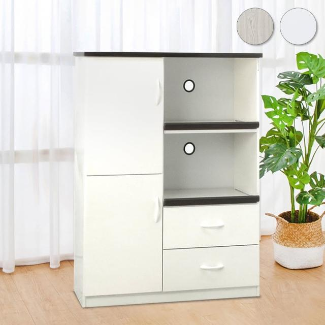 【Bernice】3.2尺二門二抽二拉盤防水塑鋼電器櫃/收納餐櫃(兩色可選)