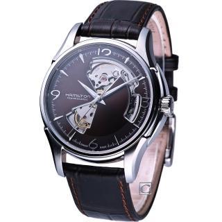 【HAMILTON 漢米爾頓】JazzMaster 經典魅力鏤空機械錶(H32565595)