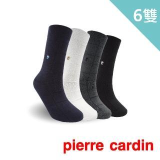 【pierre cardin 皮爾卡登】格紋紳士休閒襪-6入組(紳士襪/男襪)