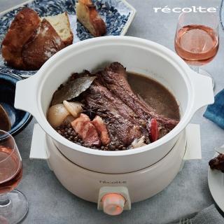 【recolte 麗克特】1.9L Tanto調理鍋RPF(含章魚燒烤盤)