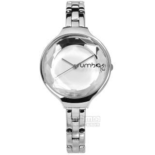【rumba time】Orchard 紐約品牌 切割玻璃鏡面 不鏽鋼手錶 銀色 30mm(RU27976)