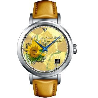 【梵谷Van Gogh Swiss Watch】梵谷經典名畫男錶(I-SLMV-11 標誌向日葵)