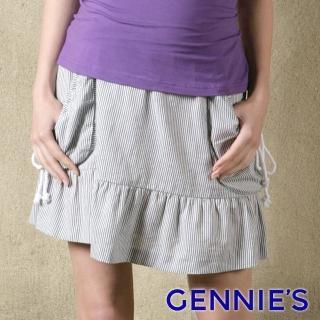 【Gennies 奇妮】休閒風立體口袋一體成型短裙(墨綠/紅/藍G4X06)