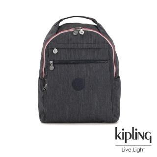 【KIPLING】未來感極簡風深灰丹寧多袋實用後背包-MICAH
