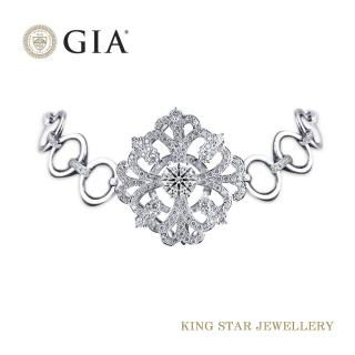 【King Star】GIA 無螢光 風華絕代一克拉鑽石18K金手鍊(項鍊手鍊兩用)