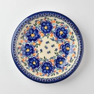 【波蘭陶 Vena】波蘭陶 春遊系列 圓形深餐盤 22cm 波蘭手工製