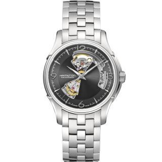 【HAMILTON 漢米爾頓】JazzMaster 經典鏤空機械錶(H32565185)