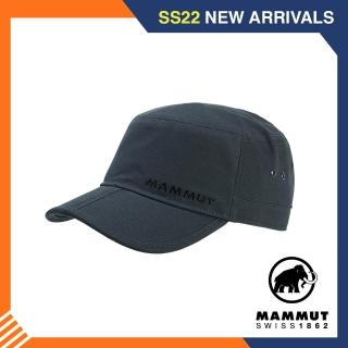 【Mammut 長毛象】Lhasa Cap 防曬休閒帆布鴨舌帽 幻影黑 #1191-00020