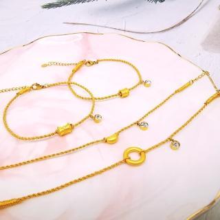 【A+】牛年一定賺 開運999千足黃金手鍊-0.05錢±2厘(22選1)