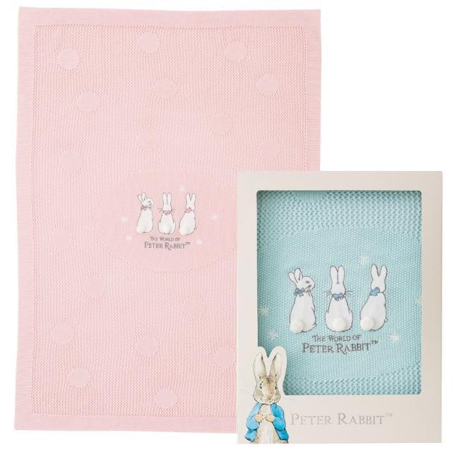 【奇哥】比得兔洞洞棉毯禮盒(2色選擇)