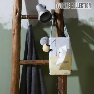 【Yvonne Collection】以旺娃娃車用面紙套(淺淺灰/嫩黃)