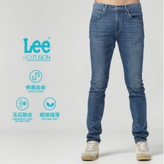 【Lee】Lee 中腰標準舒適小直筒牛仔褲/DC-中藍色洗水(中藍色洗水)