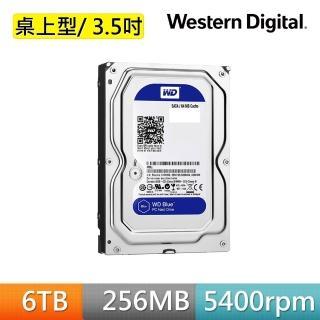 【Western Digital】藍標 6TB 3.5吋SATA硬碟(WD60EZAZ)
