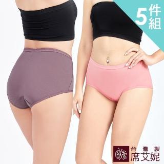 【SHIANEY 席艾妮】MIT台灣製 超加大尺碼 健康抗菌竹炭褲底 彈性貼身 棉質 三角內褲 3XL/4XL(5件組)