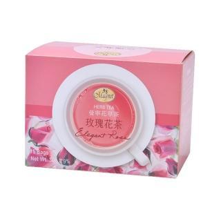 【曼寧】玫瑰花茶包2gx15入(花草茶、玫瑰花茶、無咖啡因)