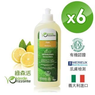 【義大利 綠森活 VERDE ORIZZONTE】買三送三 高效能濃縮洗碗精(500mlx6瓶)