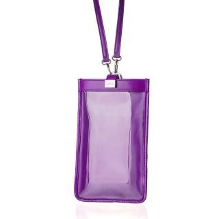 【LIEVO】TOUCH 真皮斜背手機護照包(深紫紅TC06-DV)